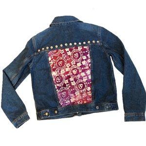 IZOD Vintage Chameleon patchwork stud jean jacket